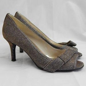 Super Sparkly Stuart Weitzman Gold / Silver Heels